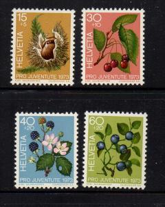Switzerland Sc B426-29 1974 Pro Juvente stamp set mint NH