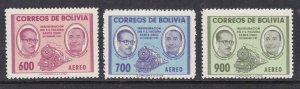 BOLIVIA  ^^^^# C202-204  mint hinged  AIRPOSTS    $$$@@ dc645bol