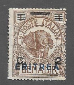 Eritrea Scott #58 Mint 2c overprinted on Somalia Elephant stamp 2015 CV $5.00