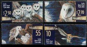 2001 Niuafo'ou 382-385 Owls 11,00 €