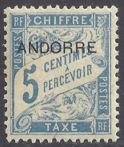ANDORRA-FRENCH SCOTT J1