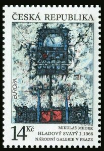 Czech Rep 2881,MNH.Michel 5. EUROPE CEPT-1993.Contemporary Art by Mikulas Medek.