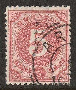 Netherlands Antilles 1889 Sc 17 used Aruba cancel