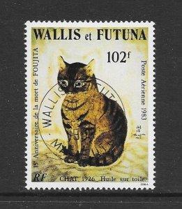 WALLIS & FUTUNA #C122  ART-CAT BY FOUJITA.  CANCELLED