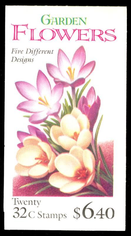 US #3029a COMPLETE BOOK, BK234, Garden Flowers,  VF/XF mint never hinged, pos...