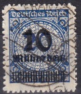 Germany #320  F-VF Used  CV $105.00  Z674