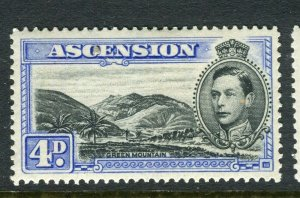 ASCENSION ISLAND; 1938 early GVI issue fine Mint hinged PERF 13.5, value 4d