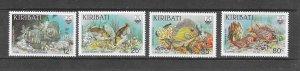 FISH - KIRIBATI #452-5   MNH