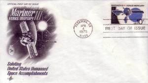 FDC Sc# 1557 Mariner 10 Venus / Mercury Artcraft L972