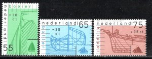 Netherlands Scott # B644 - B646, mint nh