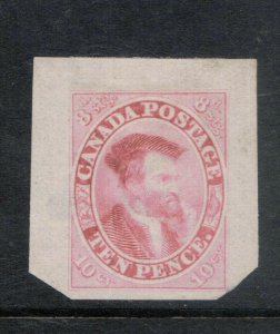 Canada #7P Very Fine Trade Sample Proof In Pinkish Red **With Certificate**
