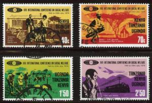 Kenya Uganda Tanzania, KUT  Scott 288-291 Used set