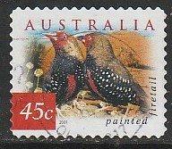2001 Australia - Sc 1993 - used VF - 1 single - Painted firetail