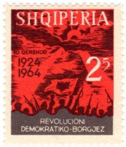 Albania Scott 738-39 (1964: Albania 1924 Revolution, 40th Anniversary)