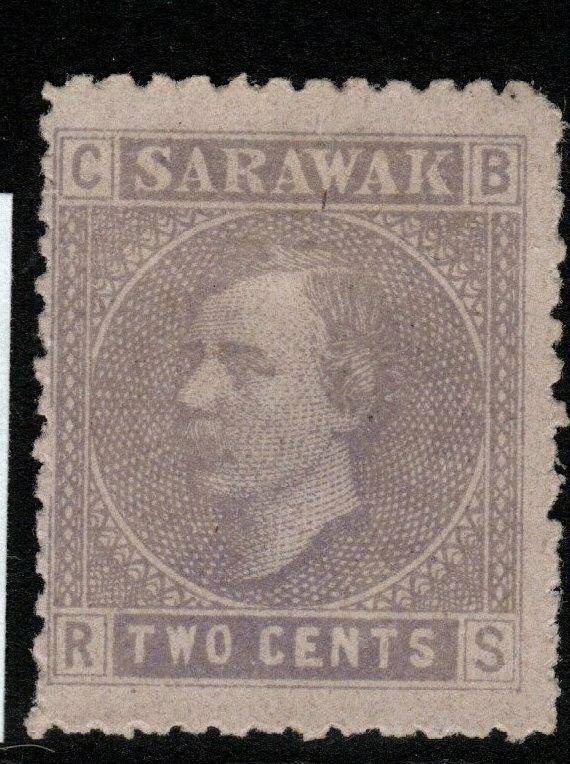 SARAWAK SG3 1872 2c MAUVE/LILAC UNUSED AS ISSUED