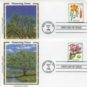 1998 Flowering Trees Set of 5 (Scott 3193-7) Colorano FDC
