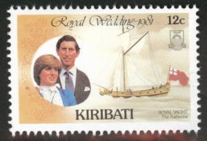 Kiribati Scott 373 MNH** 1981 royal wedding stamp