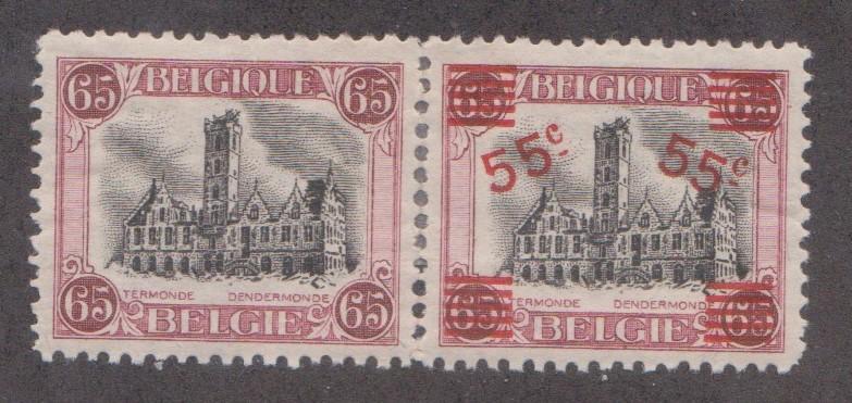 Belgium Sc. #143a Pair - MH  See Scan