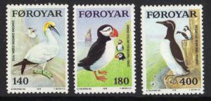 Faroe Islands 1978 MNH sea birds complete