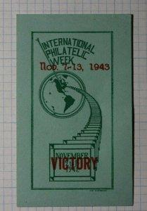 Intl Philatelic Week 1943 Victory Philatelic Souvenir Ad Label