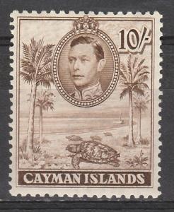 CAYMAN ISLANDS 1938 KGVI TURTLE 10/- PERF 11.5 X 13