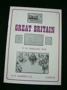 H R HARMER AUCTION CATALOGUE 1975 GREAT BRITAIN