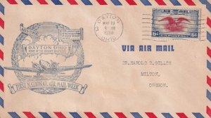 1938, 1st National Airmail Week, Dayton, OH (E11362)