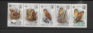 BIRDS - SWAZILAND #405  FISHING OWL  MNH