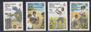 Turks & Caicos Islands # 512-515, Scouting Year, HInged, 1/3 Cat.