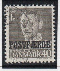 Denmark Sc Q37 1955 40 ore gray Frederik IX Postfaerge stamp used