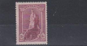 AUSTRALIA  1938    S G 176   5/-  CLARET   MH