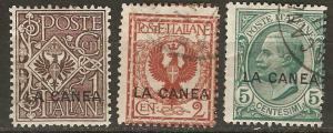 Italy Off. Crete 3-5 Mi 3-5 M/U F/VF 1906 SCV $7.00