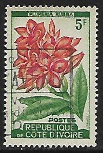 Ivory Coast # 183 - Plumeria Rubra - used.....{KlBl14}