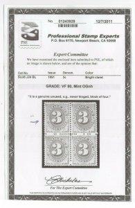 #J24 Graded: VF 80 Mint OG NH w/PSE Cert. Copy SMQ. $220 (JH 10/7) GP