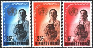 Trinidad and Tobago. 1968. 216-18. WHO, medicine. MNH.