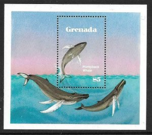 1983  GRENADA  -  SG.  MS 1236  -  SAVE THE WHALE   -  MNH