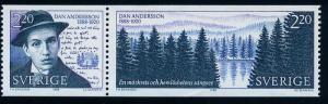 SWEDEN 1705a, Dan Andersson, Poet. MNH