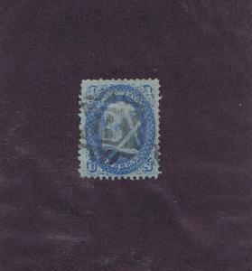 SC# 92 USED 1c, 1868, NEG B IN SEGMENTED 6 PT STAR FANCY CANCEL, LOOK!