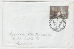 eire ireland 1978 family oil painting scene stamps cover ref 20328