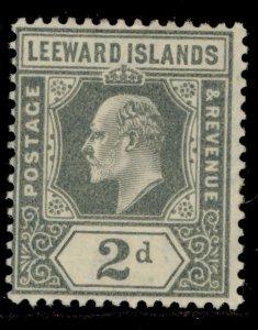 LEEWARD ISLANDS SG39, 2d grey, M MINT.