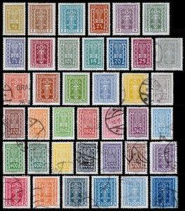 Austria Scott 250-287 (1922-24) Used/Mint H VF Complete Set, CV $22.70 J