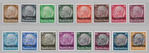 Luxembourg N1-16 German Occupation set MLH