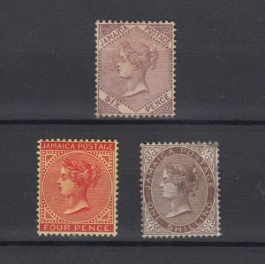 Jamaica QV Collection of 3 Mint Values To 1/- MH JK5603