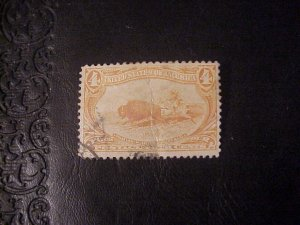 1898 4 CENT INDIAN HUNTING BUFFALO TRANS-MISSISSIPPI EXPO USED/NG SCOTT 287