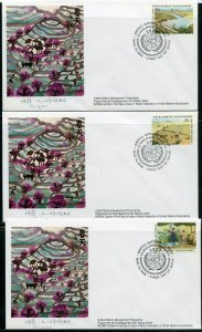 UN 1986 DEVELOPMENT PROGRAM WFUNA CACHET BY XING FEI  ON 14 FIRST DAY COVERS