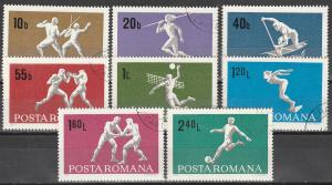 Romania #2070-7 F-VF Used (10)