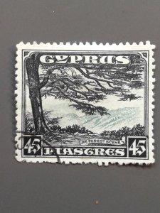 Cyprus 135 F-VF Used. Scott $ 85.00
