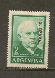 ARGENTINA STAMP,MOG DOMINGO F. SARMIENTO 2 PESOS # AR-53