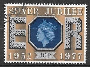 Great Britain 1977 10p Silver Jubilee, used, Scott #812