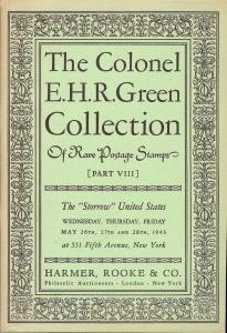 The Colonel E.H.R. Green Collection - Part VIII, Harmer R...